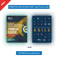 PMBOK PMI Guide 6th Edition 2018 + Agile Practice Guide + 1440 PMP Question Bank