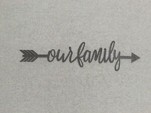 """24"""" Our Family Word Arrow Wood Wall Sign Home Decor"""
