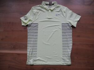 NWT Nike Golf Shirt Polo Yellow with Gray FireRock CC Size M