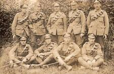 WW1 Postcard Royal Artillery RA With Bandoliers Group of Soldiers Army RPPC