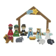 Heaven Sends Boxed Wooden Nativity Set - Christmas Decorations