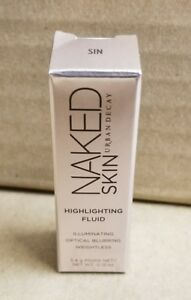 Urban Decay Naked Skin Highlighting Fluid 0.12oz/3.4g - color sin - Brand New