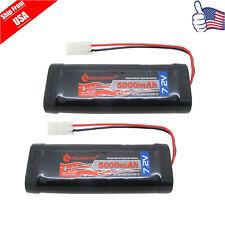 2x 7.2V 5000mAh Ni-MH RC Rechargeable Battery Tamiya Plug For RC Racing Car USA