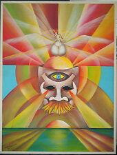 Original Gemälde POP-Art Phantastischer Realismus Willy Roggwiller 1982 Schweiz