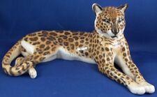Rare Nymphenburg Porcelain Leopard Figure Figurine Porzellan Figur Big Cat Katze