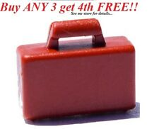 ☀️NEW LEGO MINIFIGURE City REDDISH BROWN BRIEFCASE Business Suitcase Attache Bag