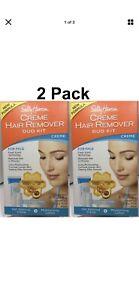 (2) Sally Hansen New Formula Creme Hair Remover Duo Kits Extra Moisturizing Face