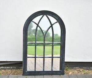 Black Rustic Window Soho Style Mirror Hallway Vanity Wall Elegant Vintage Style