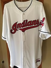 Majestic Authentic Cleveland Indians Cool Base Jersey-Size 52