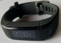 Black Garmin VivoSmart HR Plus + Activity TRACKER ONLY - Has WEAR -Read Details