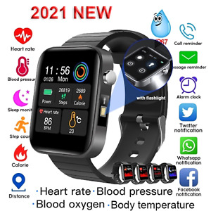Bluetooth Smartwatch With Body Temperature Thermometer Blood Pressure Fitnesss