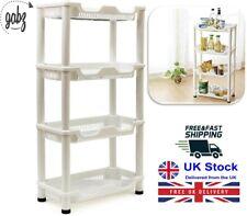 GABZ 4 Tier ABS Plastic Free Standing Bathrrom & Kitchen Storage Unit/Caddy/Rack