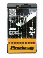 Piranha X29210 Hi-Tech 10 Piece Jigsaw Blade Set for Wood & Laminates