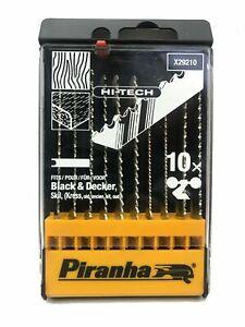 Piranha X29210 Hi-Tech 10 Pièce Scie Sauteuse Lame Set pour Bois & Plastifié