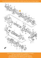SUZUKI Gear, 5th Driven (nt:20), 24351-43D00 OEM