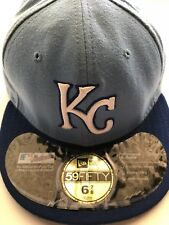 Kansas City Royals New Era 59Fifty Fitted 6-7/8 MLB Baseball Hat Royal Blue