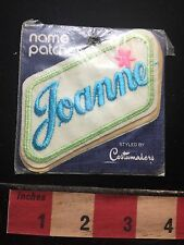 First Name BLUE Letter JOANNE Vintage Uniform Name Patch In As-Is Package 71DD