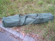 TENT POLE BAG HEAVY DUTY CANVAS MEDIUM 120cm X 15cm X 15cm  OLIVE GREEN