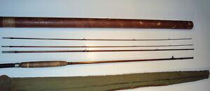 Vintage Heddon #10 Bamboo fly Rod 8-1/2-ft sock & tube