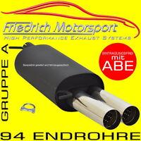 FRIEDRICH MOTORSPORT SPORTAUSPUFF Seat Leon 1M 1.4 1.6 1.8+T 1.9 SDI+TDI