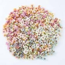 100Pcs Multicolor Mini Silk Artificial Daisy Flowers Heads Flower for DIY Wreath