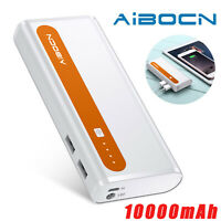 10000mAh External Battery Portable Dual USB Power Bank Charger For Cell Phone