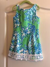 LILLY PULITZER Girl's LITTLE DELIA GO GO GREEN FITTED SHIFT DRESS Size 6