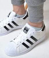 Adidas Originals Superstar Classic Sneakers New, White / Black Snakeskin d70171