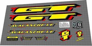1998 GT AVALANCHE LE DECAL SET