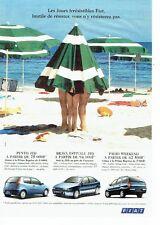Publicité Advertising 037  2000   les Fiat Punto JTD  Palio JTD Brava JTD
