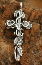 Vines Cross Pendant in Sterling Silver, R-68, Vintage Reproduction