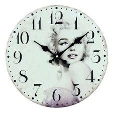 Marilyn Monroe Style Vintage Horloge Murale 30cm Cadeau