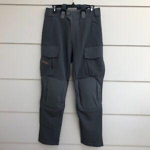 Sitka Timberline Pant Lead Gray Mens 32  Suspenders Knee Pads