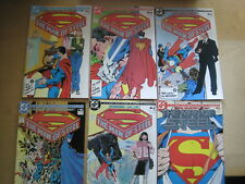 SUPERMAN, MAN of STEEL : COMPLETE 6 ISSUE CLASSIC  1986 DC SERIES by John BYRNE