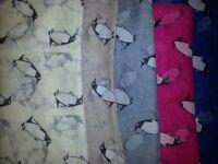 New Women Ladies Long PENGUIN Animal Print Neck Shawl