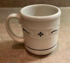 "Longaberger Woven Traditions Heritage Blue Coffee Mug Tea Cup 12 Oz 4"" Tall Usa"