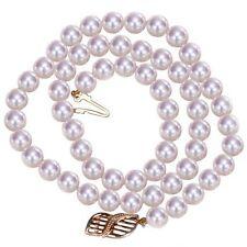 Perlen-Halsketten mit Sets aus Gelbgold für Damen