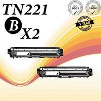 2PK TN-221 TN225 Black Toner Compatible for Brother HL-3140CW HL3170CDW 9020