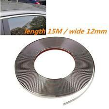 12mm/49ft Chrome Moulding Trim Strip Car Door Edge Bumper Guard Strip Protector