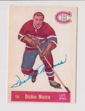 2001 Parkhurst Dickie Moore Montreal Canadiens Autographed Card