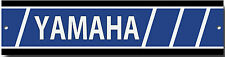 YAMAHA METAL GARAGE SIGN.VINTAGE YAMAHA MOTORCYCLES,YAMAHA WORK SHOP SIGN.BLUE