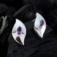 angenehmes Amethyst 925 Sterling Silber Purple echtes Geschenk DE Geschenk