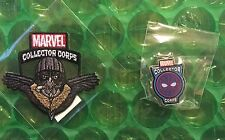 SPIDER-MAN VULTURE & WEB SHOOTER HOLOGRAM FUNKO MARVEL COLLECTORS PATCH & PIN