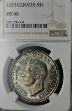 1939 Silver Dollar $1 NGC MS-65 - Superb Multi-Color Toning
