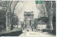 CPA 89 - VILLEVALLIER - Le pont Suspendu