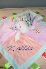 Unicorn Taggie Animal Blanket Personalized Security Blanket Baby Blankie