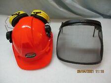 WOODSafe® Forsthelm orange - Klappvisier Gehörschutz Nackenschutz Lüftungssch
