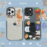 Cute Bear Bells Pendant Clear Phone Case Cover For Apple iPhone11 12Pro Max XS X