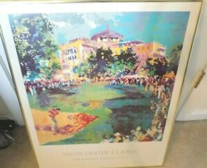 Leroy Neiman Westchester Classic Country Club 1979 Framed 23x29 Golf Lithograph