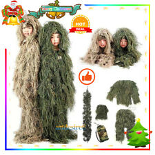 Kids Children Clothes Woodland Tactical Uniform Army Clothing Ghillie Suit Geely